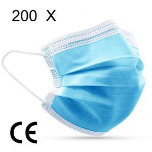 200Einweg-Masken masken kurz Mundschutz Chirurgische Maske OP-Gesichtsmaske masken infektionsschutz masken Medizinische Gesichtsmasken einwegmasken mundschutz Stück Anti-Staub Maske Medizinische Maske Weiß