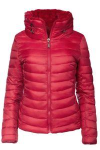 Damen Wendejacke Winter Steppjacke , Farbe:Rot, Größe:XL