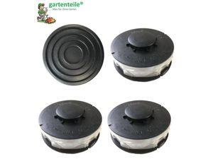 Set 3 Spule 1 Haube verstärkt passend für Gardenline GLR 450 Elektro Rasentrimmer