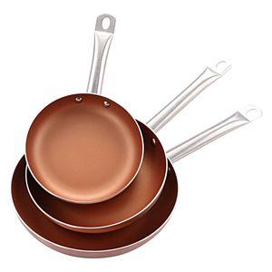 Smak Bergner Bratpfannenset Copper Plus 20, 24 und 28 cm Bergner 3-teiliges Bratpfannenset Copper Plus Limited Edition / Kaufbei