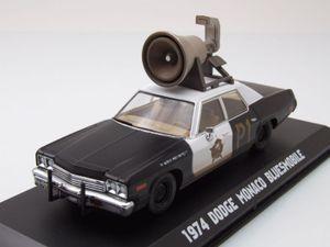 Dodge Monaco 1974 mit Lautsprecher Blues Brothers Modellauto 1:43 Greenlight Collectibles