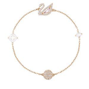 Swarovski 5472271 Dazzling Swan Armband Größe M, mehrfarbig, rosé Vergoldung