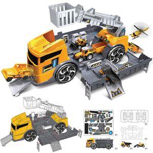 MECO 1:24 Kinder Spielzeug LKW Engineer Fahrzeug Feuerwehr Auto Parkhaus Spielfahrzeuge Typ: Engineering Fahrzeug