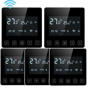 5 X SWAREY Smart Digitaler Raumthermostat Programmierbar Thermostat FußBodenheizung Wasserheizung WIFI-Thermostat mit Weback-App