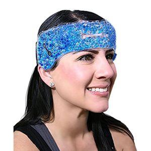 Stirnband Migräneband Gelkompresse Kühlkissen gegen Migräne und Kopfschmerzen