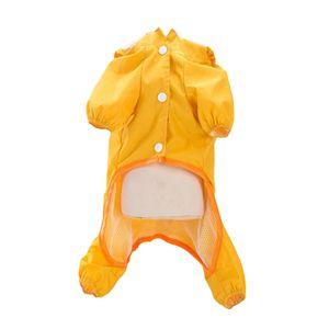Hund Regenmantel Haustier Hund Regenmantel Wasserdicht Hund Welpen Regenmantel mit Transparent Hut Krempe Große Hund Medium Hund Regen Mantel Gelb L.