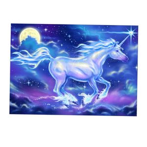 1 Stück Diamond Painting Set , Einschließlich Canvas, Bohrsack, Point Drill Pen, Point Drill Disc, Ton Farbe Pferd