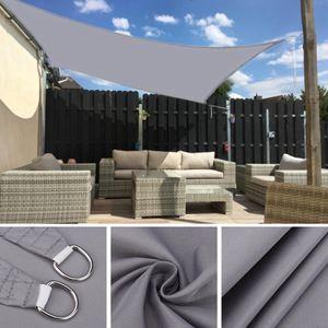 Outdoor Sonnensegel Wasserdicht Sonnenshutz für Garten Patio Balkon Oxford Gewebe Sonnensegel Quadrat 4X4m (Grau,4x4m)