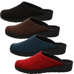 Rohde 4320 Roma Damen Pantoffeln Hausschuhe Keilabsatz, Größe:42 EU, Farbe:Blau