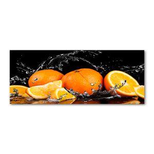 Tulup Acrylglas - Wandkunst - 125 x50 cm -  Bild auf Plexiglas® Dekorative Wand für Küche & Wohnzimmer  - Essen & Getränke - Orangen Wasser - Orange