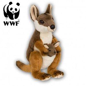 WWF Plüschtier Känguru mit Baby (19cm) lebensecht Kuscheltier Stofftier Kangaroo Joey