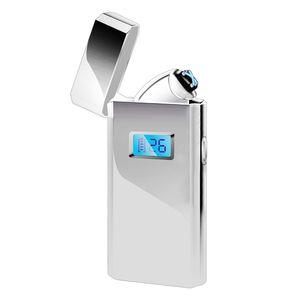 Elektrisch Feuerzeug Arc Plasma Lighter Lichtbogen Lighter USB Aufladbar Winddicht mit LED