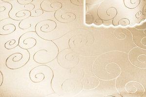 Tischdecke creme sand rund 135 cm Ø Struktur damast Tafeltuch circle bügelfrei