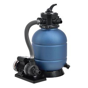 Juskys Sandfilteranlage PSFA20A – Robuster Pool-Filter mit 4 Wege-Ventil und Druckanzeige   mit Selbstreinigungsfunktionen und winterfest