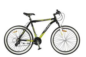 26 Zoll Alu Aluminium Kinder Mountainbike Mtb Herren Jugend Fahrrad Herrenfahrrad Jugendfahrrad Rad Bike 21 Shimano Gang Federgabel Gabelfederung Ravenger Schwarz Grün
