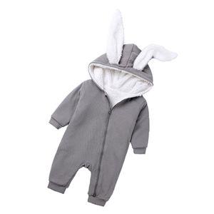 Winter Säugling Baby Baumwolle Strampler Overall Outfit Grau (0-3 Monate) Overalls Baby-Overalls wie beschrieben