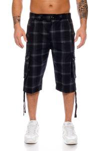Raff&Taff Herren Bermuda Cargo Shorts Freizeithose Sportshorts Caprihose Capri Badeshorts bis 6XL Black Shorts