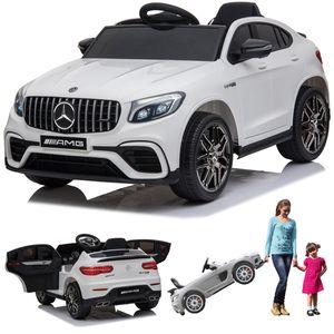 Mercedes-Benz GLC 63S AMG Coupe Kinderauto Kinderfahrzeug Kinder Elektroauto Weiss