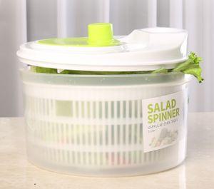 Salatschleuder Salat Schleuder Salattrockner Gemüsetrockner Salatmanager mit Kurbel Sieb