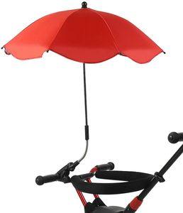 Universeller Kinderwagen-sonnenschirm (rot)mit UV-Schutzclip ,Sonnenschutz für Kinderwagen mit Universalklemme, geeignet für alle Arten von Kinderwagen und Kinderwagen