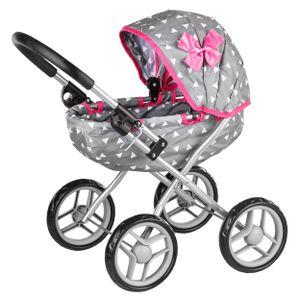 Kinderplay Puppenwagen ab 1 2 3 Jahre Kinderwagen Spielzeug - Grau Puppenwagen Kombi, Spielzeug Draussen, KP0260S