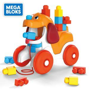Mega Bloks Hündchen zum Hinterherziehen, Nachzieh-Spielzeug mit Bausteinen
