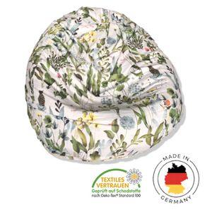 Sitzsack, Sitzkissen, Beanbag, Loungechair für Erwachsene und Kinder, Design 'Magic Garden' I frei von Giftstoffen I  I waschbar I tropisch I