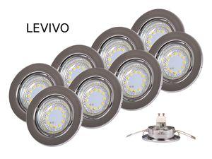 LEVIVO 8x LED Einbaustrahler Einbauleuchte Einbauspot Deckenspot Deckenstrahler