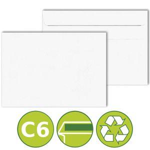 50 x Briefumschläge Kuverts DIN C6 selbstklebend 114x162mm Weiß