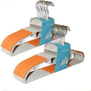 Natsen Kleiderbügel 20 Stück 0,6cm dicke mit rutschfester Oberfläche Anzugbügel Hosenbügel 360° drehbarer Haken Orange KB-G001-02-2