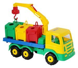 WADER Super Truck Müllwagen Container Lastwagen LKW Kipper 42 cm
