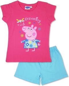 Peppa Pig - Mädchen Schlafanzug Kurz, Shorty Kinder Pyjama (98-104)
