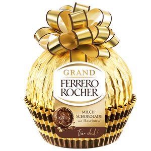 Grand Ferrero Rocher Weihnachtsschokoladenpraline mit Haselnuss 125g