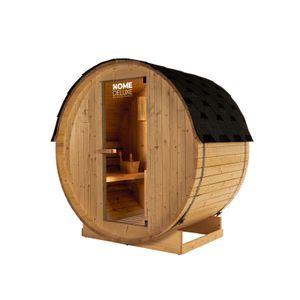 HOME DELUXE - Outdoor Fasssauna inkl. Saunaofen LAHTI M Gartensauna Sauna