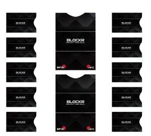 Premium RFID Blocker und NFC Schutzhüllen (10 + 2 Stück) Bankkarten, Kreditkarten