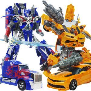 2 teile/los Transformatoren König Kong Bee Optimus Kombiniert Roboter Kinder Verformung Spielzeug Modell