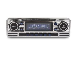 Caliber Autoradio mit DAB+ und Bluetooth - Retro-Look - Chrom (RMD120DAB-BT)