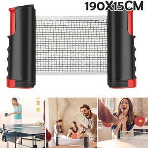 Miixia Tragbar Tischtennisnetz Tischtennis Netz ausziehbar PingPong Bis 190cm Fitness
