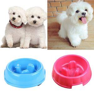 2 Stück Anti-Schling Napf für Hunde und Katzen, blau und rosa