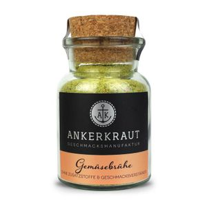 Ankerkraut Gemüsebrühe leckere Suppenmischung im korkenglas 90g
