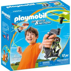 PLAYMOBIL Top Agents Pull String Flyer, 70055