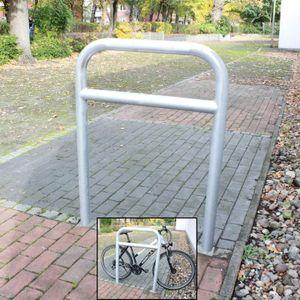 Fahrrad Anlehnbügel feuerverzinkt zum Einbetonieren Fahrradständer Anlehnständer Poller Baumschutzbügel