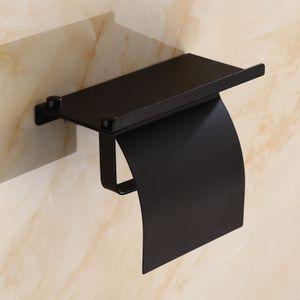 Toilettenpapierhalter mit Abdeckung Klopapierhalter aus rostfreiem Edelstahl zusätzliche Ablage