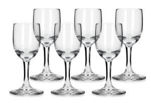 6 SCHNAPSGLÄSER Likörgläser Vodkagläser Schnaps Shot Vodka Glas Likör 35 ml