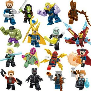 16Stk Marvel Mini Figuren Superhelden Thors Spiderman Avengers Minifiguren