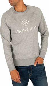 Gant Herren Sweatshirt einsperren, Grau L