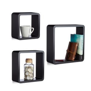 relaxdays Hängeregal Cube 3er Set