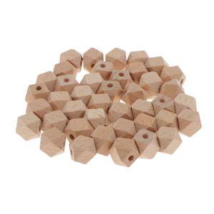 40Pcs Natürliche Holzperlen Holz Perlen Schmuck Basteln Schmuckperlen Spacer Perlen DIY Armbänder, Halsketten, Makramee Größe 10 MM