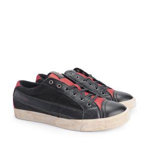 "Diesel Sneaker ""D-String Low"" -  Y01107 P1038 H2177 / D-String Low - Schwarz, Rot-  Größe: 40(EU)"