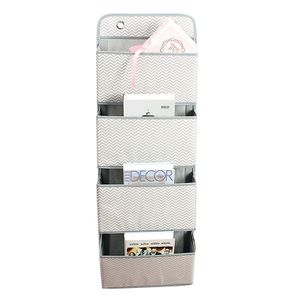 4 Tasche Hängeaufbewahrung Badezimmer Organizer Wand Tür Tasche Farbe : Wellenmuster
